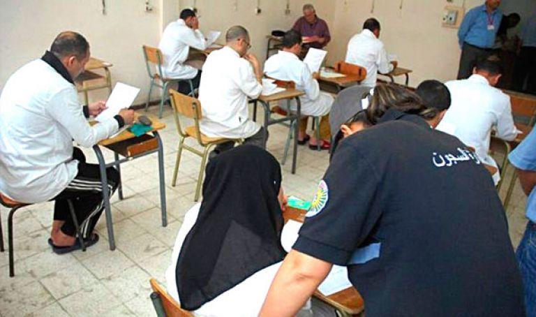 ارتفاع عدد المحبوسين المشاركين في الامتحانات النهائية