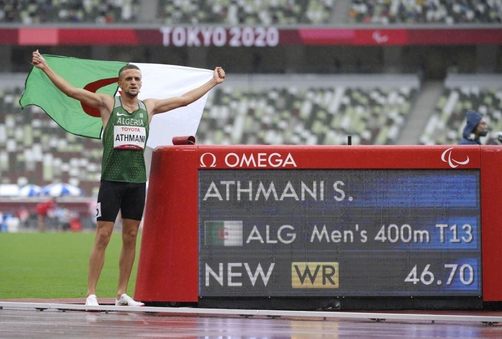 العداء اسكندر جميل عثماني يتوج بالميدالية الذهبية ويحطم الرقم القياسي العالمي