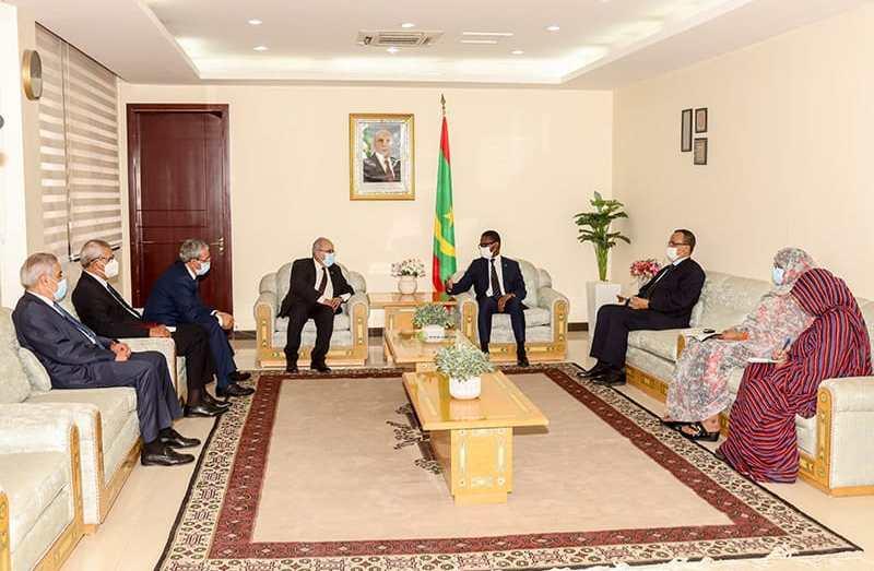 الوزير الأول ووزير الخارجية الموريتانيين يستقبلان لعمامرة