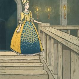 Cinderella digital illustration for children's picture book