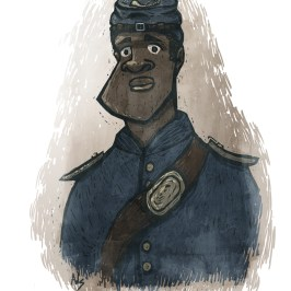 african american soldier from the civil war digital illustration