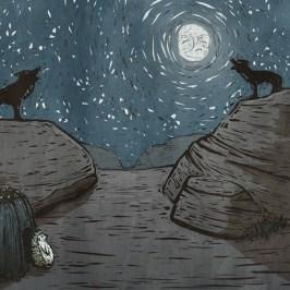 awshurtliff_hedgehog-moon_illustration_watercolor_mixed-media