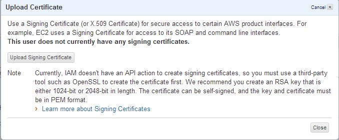 Amazon Web Services IAM Part 3- Access Keys and Signing