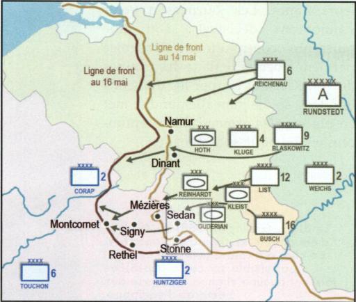 Stonne 1940 - carte