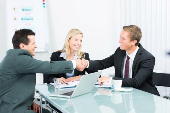 réunion avec des clients