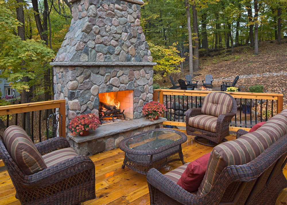outdoor stone paver firepits