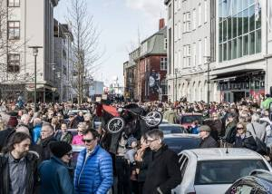 The streets of Reykjavík were packed full of people