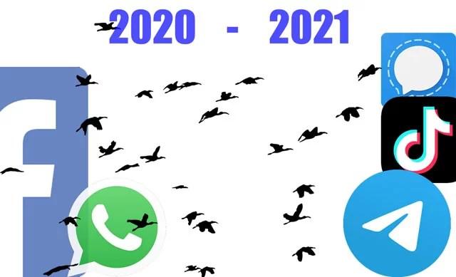 se migran millones de usuarios a telegram y signal tras abandonar whatsapp
