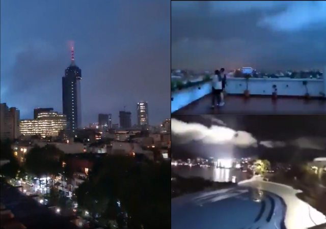 luces de terremoto en mexico lights earthquake acapulco