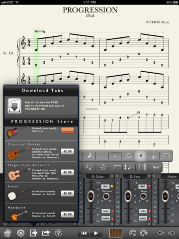iPad guitar tab editor