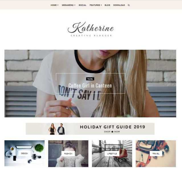 Katherine blogger template