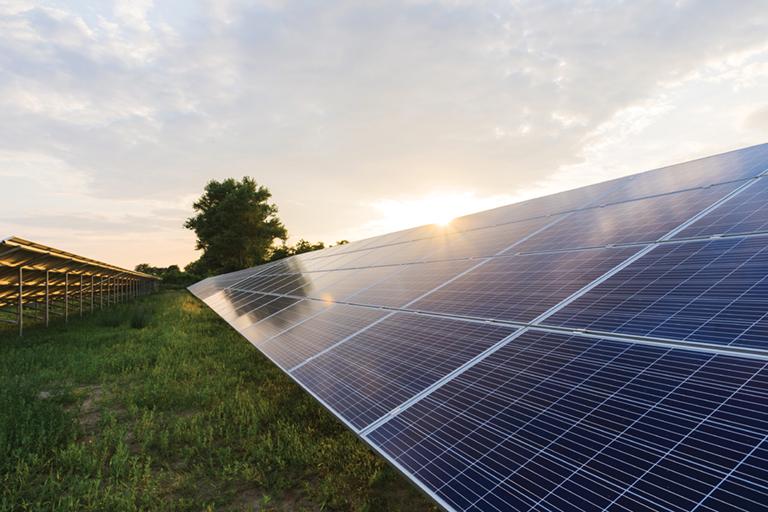 cameras protect a solar power plant