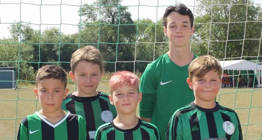 Youth football players at Basildon Boys and Girls Club.