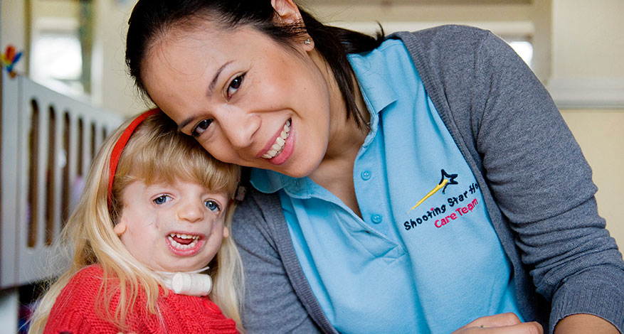 Shooting Star nurse on home visits to families caring for a life-limited child