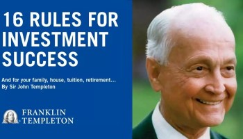 Templeton's 16 rules for investment success