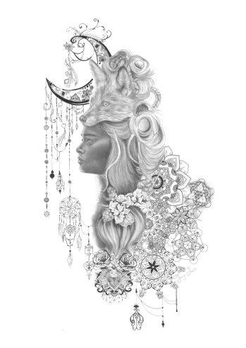 feminine style paintings