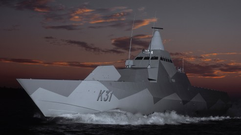Swedish Stelth Corvette