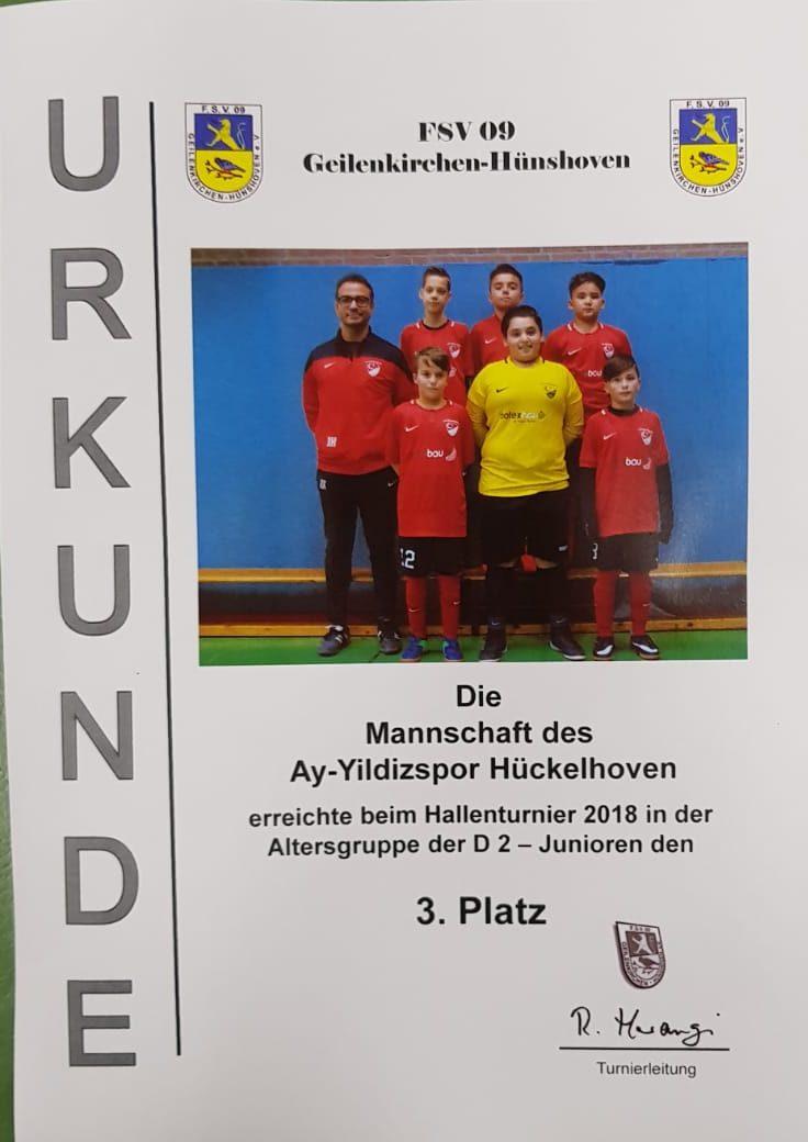 D2-Junioren erreichen dritten Platz