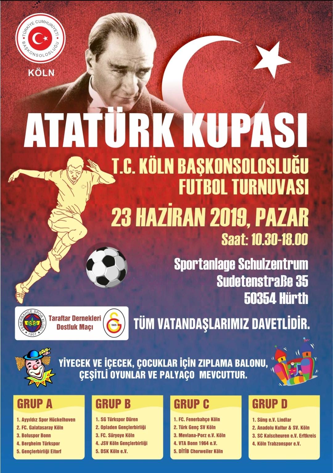 Teilnahme am Atatürk Cup