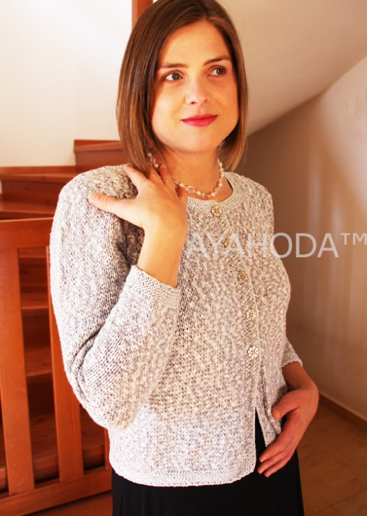 B0079 AYAHODA Handmade Designed women sweater cardigan