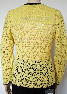 B0086 Ayahoda Women Knitwear Cardigan Crocheted