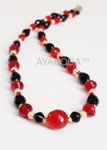 A0255 Ayahoda Handmade designed glass beaded women jewelry necklace