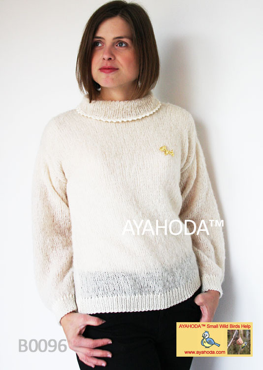 Women sweater warm alpaca Ayahoda Handmade design