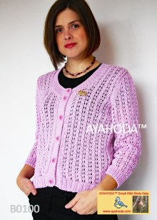 Women lacy sweater cardigan Ayahoda design business knitwear