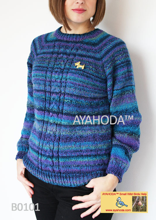 Women kniwear warm sweater Ayahoda handmade design