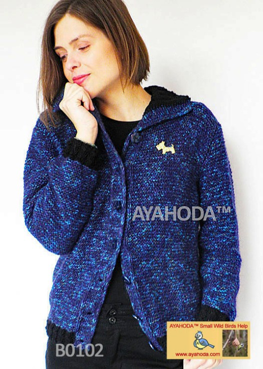 Women knitwear sweatr cardigan warm Ayahoda Handmade design