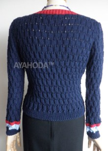 Ayahoda merino extrafine women sweater cardigan dark blue