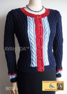 Women kniweart Merino sweater cardigan business knitwear Ayahoda Handmade design
