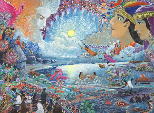 Sky Spirits by Pablo Amaringo