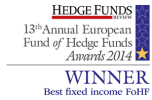Hedge Funds Review Awared Winner 2014