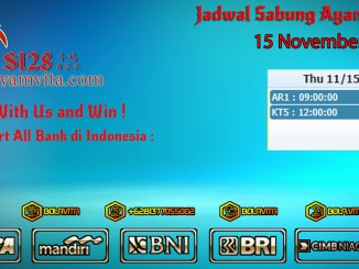 Jadwal Sabung Ayam 15 November 2018