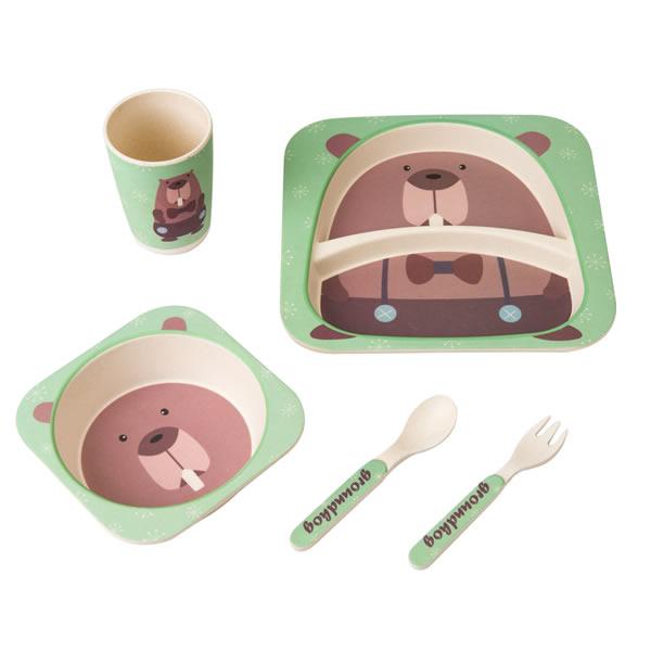 Bamboo Fiber Kids Dinnerware Set