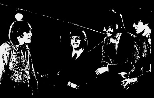 Beatles Revolver 1966 ink drawing by Ayd Instone