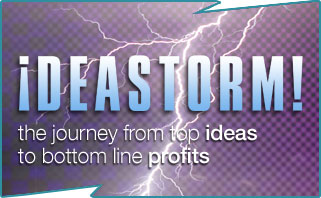 Ideastorm, brainstorming, ideas generation, training workshop