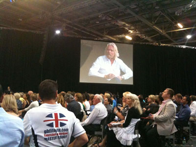 Richard Branson at NAC, Excel, London
