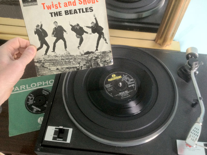 Record player Twist and Shout by the Beatles