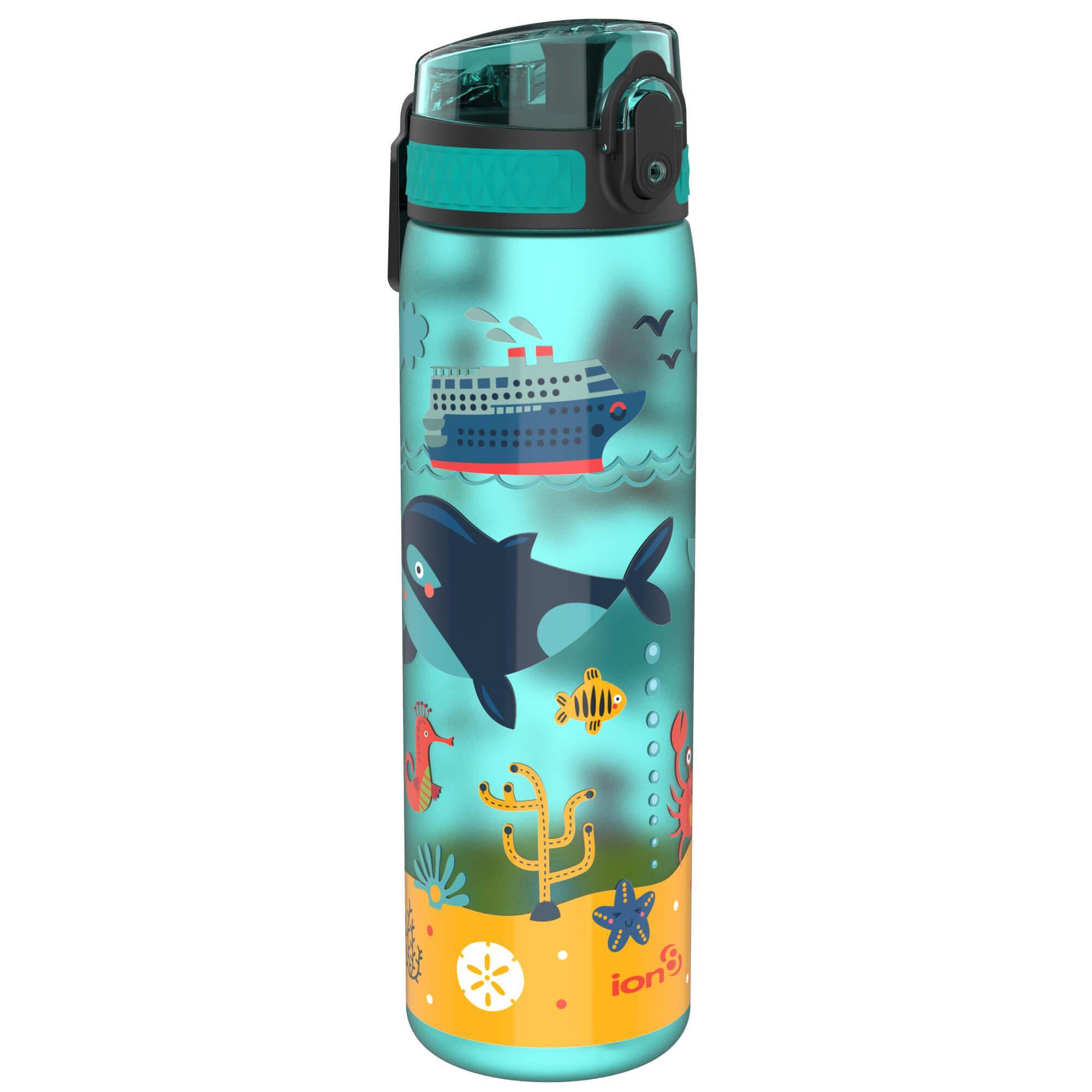 BPA Free 500ml 18oz Frosted Grey Ion8 Leak Proof Slim Water Bottle