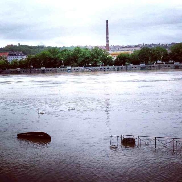 RadkaZimovaK_ViewOfSmichov_over_flooding_Vltavariver