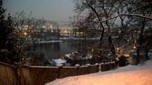 Prague_riverVltava_viewfromVysehrad_nightinwinter