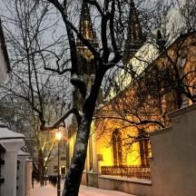 Vysehrad_inwintereveninglight_Prague_in_snow