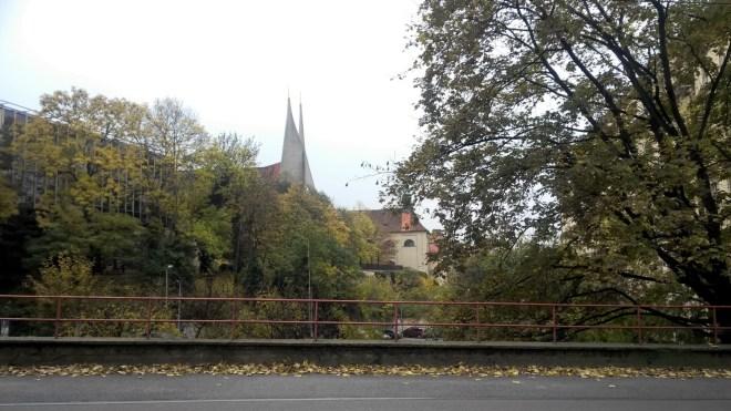 Prague in autumn Emauzy church