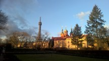 Petrin-tower-Prague-wintersun