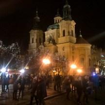 Prague-atnight-OldTownSquare-lights-church
