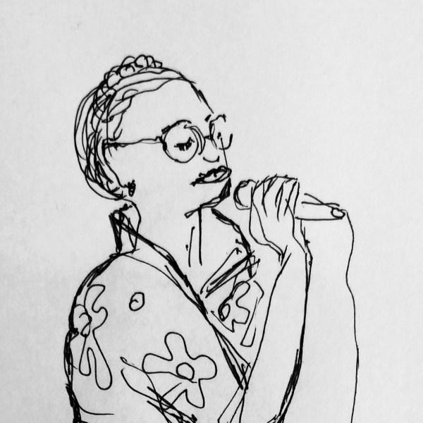 Tonay Graves drawing Jazz Dock Prague 2019