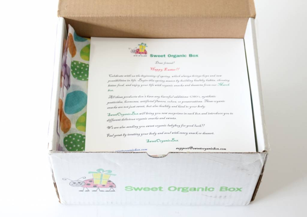 Sweet Organic Box March 2016 2