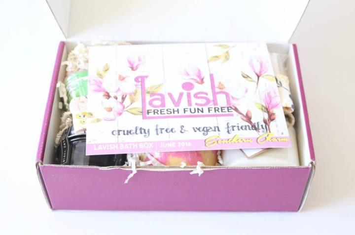 Lavish Bath Box Review June 2016 2